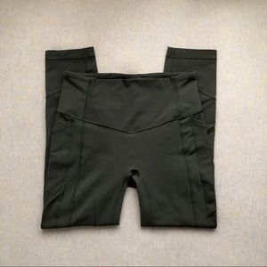 Lululemon dark olive all the right places crop